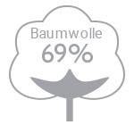 69% Baumwolle