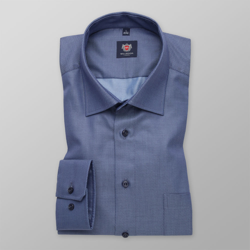 Slim Fit Herrenhemd in Blau 11668