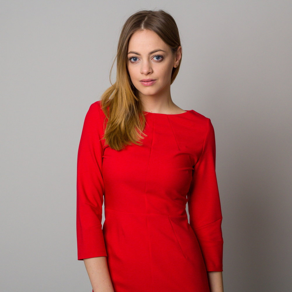 Midikleid in Rot