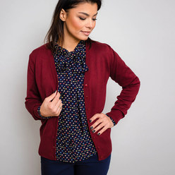 Damen Pullover in Weinrot Willsoor 10278