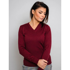 Damen Pulli in weinroter Farbe 10281, Willsoor