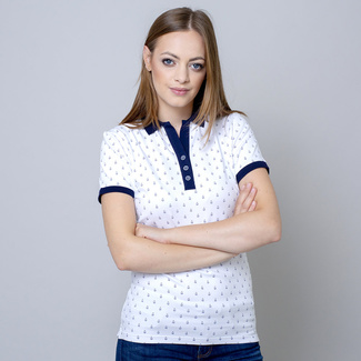 Damen Polo T-Shirt mit Segelboot Print 10821