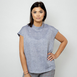 Damen Bluse in grau 10846