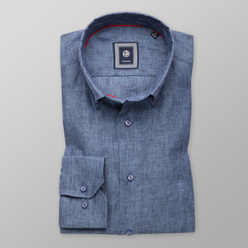Slim Fit Hemd Willsoor blau glatt