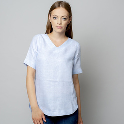 Damen T-Shirt in hellblau 10933