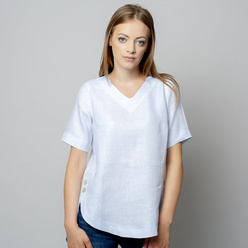 Damen T-Shirt in hellblau 10934
