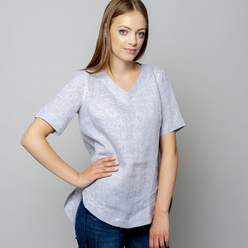 Damen T-Shirt in grau 10935