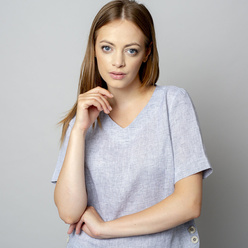 Damen T-Shirt in grau 10935, Willsoor