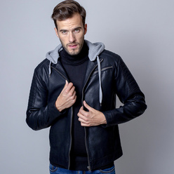 Öko Lederjacke in Schwarz Willsoor 11028, Willsoor