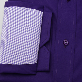 Slim Fit Hemd Willsoor violett glatt Rapport, Willsoor
