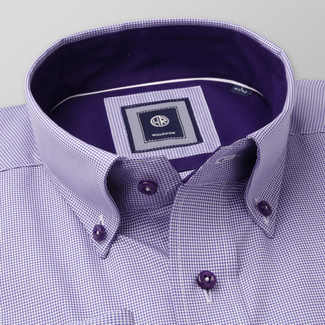 Slim Fit Hemd Willsoor violett weiß glatt