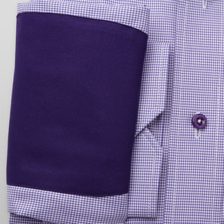 Slim Fit Hemd Willsoor violett weiß glatt, Willsoor