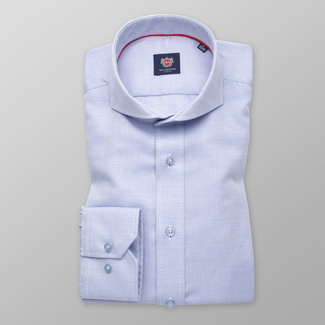 Slim Fit Hemd Willsoor blau glatt feines Muster, Willsoor