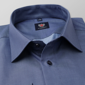 Slim Fit Herrenhemd in Blau 11668, Willsoor