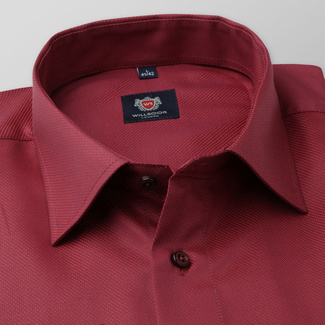 Slim Fit Herrenhemd in Rot 11672, Willsoor