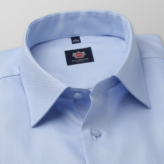 Slim Fit Herrenhemd in Blau 11678, Willsoor