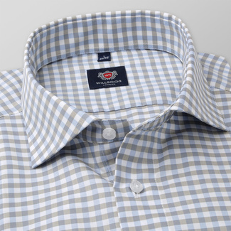 Slim Fit Herrenhemd mit Gingham-Muster 11688, Willsoor
