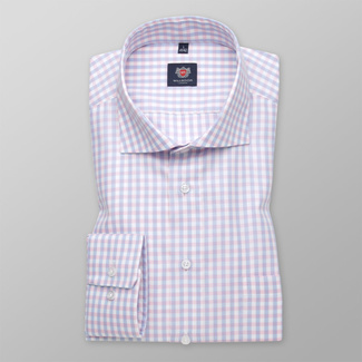 Slim Fit Herrenhemd mit einem Gingham-Muster 11690, Willsoor