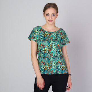 Damen T-Shirt mit Blumendruck 11787, Willsoor