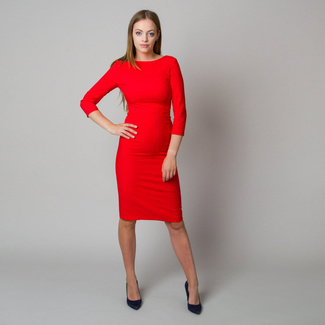 Midi-Kleid in Rot 11901, Willsoor