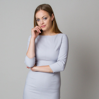 Midi-Kleid in Hellgrau 11902, Willsoor