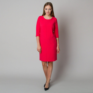 Midi-Kleid in Himbeere 11903, Willsoor