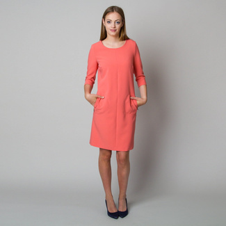 Midi-Kleid in Lachsfarbe 11904, Willsoor