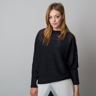 Damen Sweatshirt in Oversize-Optik, Schwarz, Willsoor