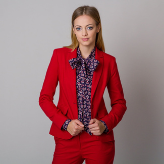 Langer Damenblazer in roter Farbe 12143, Willsoor