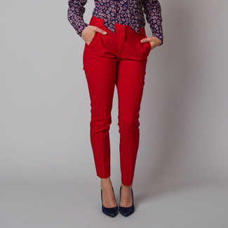 Lange Damenhose in roter Farbe 12144, Willsoor
