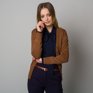 Kurze Strickjacke für Damen in Braun, Willsoor
