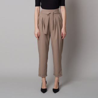 Gerade 7/8 Damenhose in Beige, Willsoor
