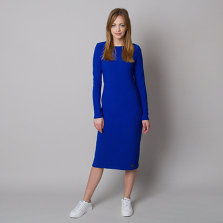 Geripptes Damenkleid in Blau, Willsoor