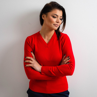 Damen Pullover Willsoor 5144 in Rot, Willsoor