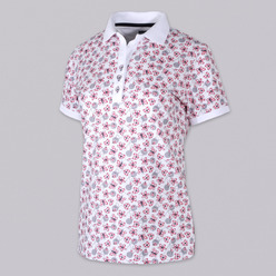 Damen Polo T-Shirt 9460 mit Design blumen, schmetterlinge a herzen, Willsoor